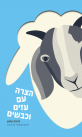 הצרה עם עזים וכבשים